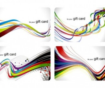 Vector Fun Gift Card Dynamic Lines Of The Background Vector Art