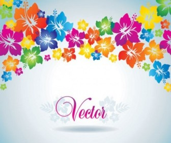 Vector Colorful Flowers Background Flower Vector Art