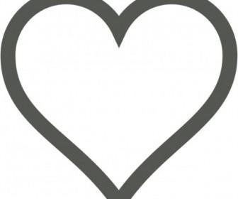 Vector Heart Icon (Deselected) Vector Clip Art