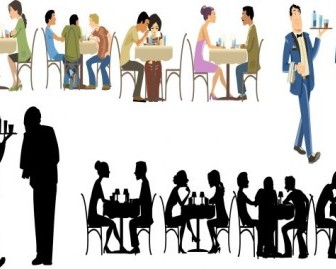Vector Restaurant Characters Cartoon Vector Art
