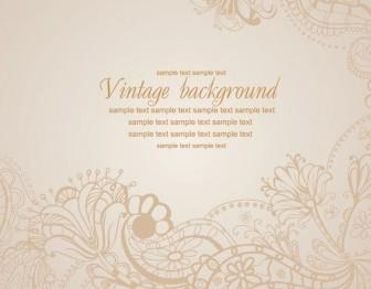 Vector Vintage Background Floral Vector Art