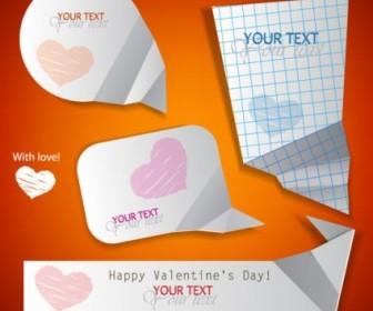 Vector Valentine Label Elements 06 Heart Vector Art