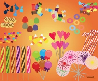 Vector Sweet Candy Set Vector Art