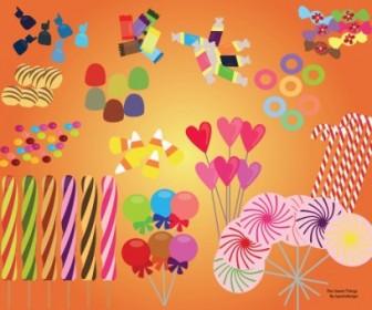 Vector Sweet Candy Set Vector Art