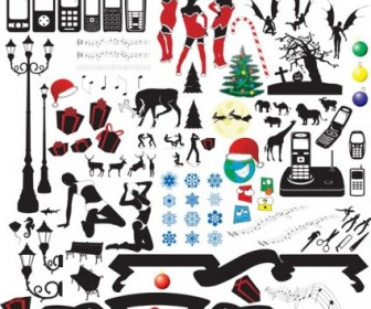 Vector Trend Silhouette Element Set Silhouettes Vector Graphics