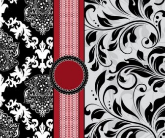 Vector European Pattern Cover 01 Background Vector Art