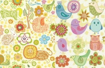 Vector Cute Animal Flowers Flower Vector Art
