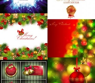 Vector Beautiful Christmas Background Vector Art