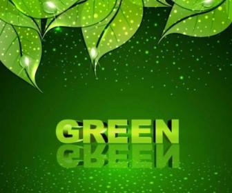 Vector Green Leaf Background Vector Art