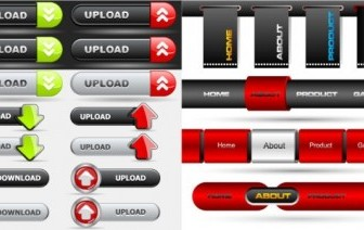 Vector Button On The Navigation Bar Web Design Vector Graphics