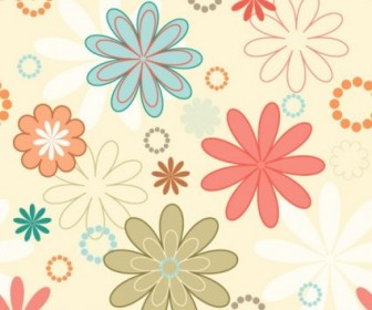 Vector Cartoon Pattern 02 Background Vector Art