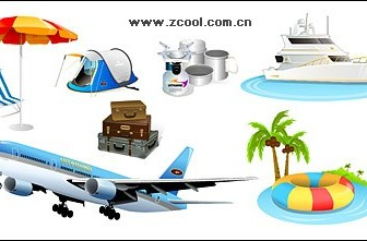 Vector Tourism Travel Material Icon Vector Graphics
