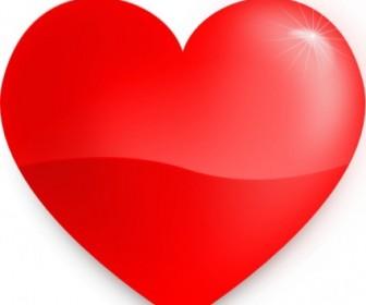 Vector Glossy Heart Vector Clip Art