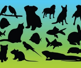 Vector Animal Silhouettes Vector Graphics