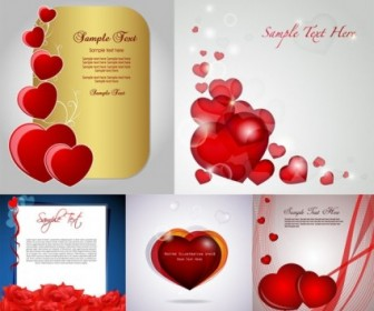 Vector Romantic Love Card Heart Vector Art