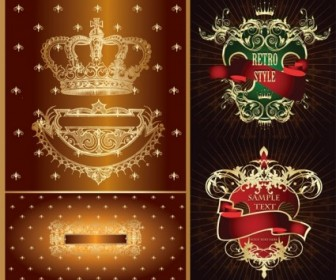 Vector Crown European Nonoriginal Works Pattern Vector Art