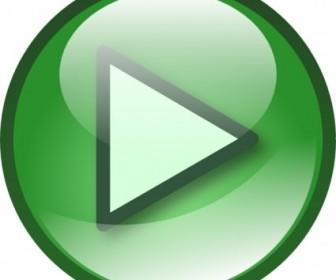 Vector Play Audio Button Set Vector Clip Art