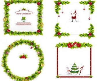 Vector Ornament Frame Christmas Vector Graphics