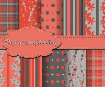Vector Beautiful Wove 3 Background Vector Art