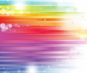 Vector Colored Rainbow Abstract Vector Graphics