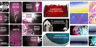 Vector Card Template Material Background Vector Art