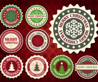 Vector Christmas Snowflake Label 01 Pattern Vector Art
