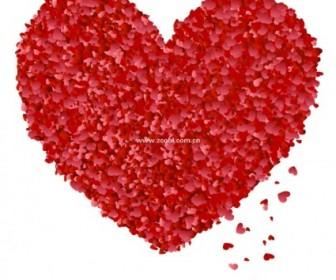 Vector Xiaotao Petals From The Peach Heart Vector Art