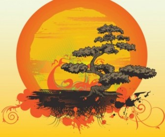 Vector Bonsai Tree Vector Art