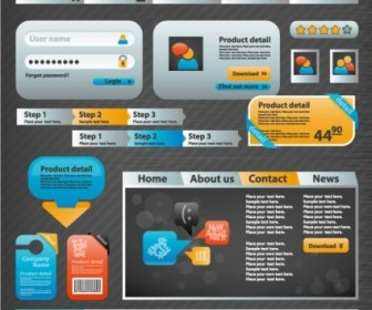 Vector Practical Elements 05 Web Design Vector Graphics