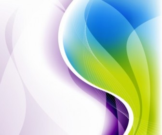 Vector Illustration Waves Backgro Abstract Vector Graphics