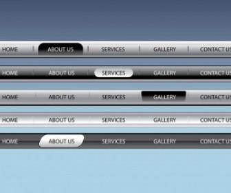 Vector Web Navigation Bars Vector Art
