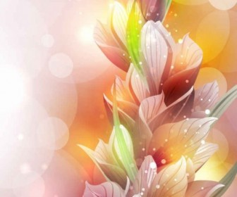 Vector Spring Lily Flower Background Vector Art