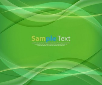 Vector Green Wave Curves Background Graphic Abstract Vector Graphics