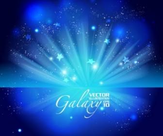 Vector Gorgeous Blue Glare 02 Background Vector Art