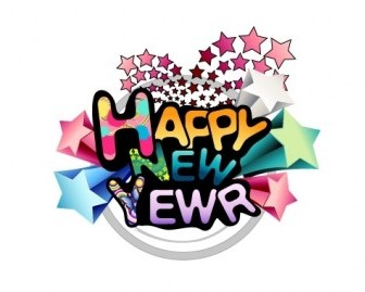 Vector Merry And A Happy New Year Word Material Christmas Vector Graphics