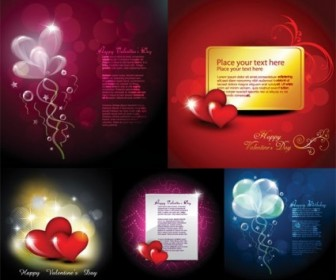 Vector Elements Of Romantic Love Cards Heart Vector Art