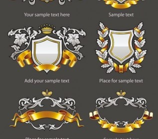 Vector European Badge 01 Pattern Vector Art
