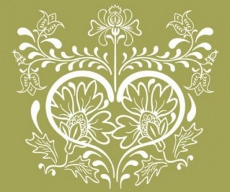 Vector Vintage Design Graphic Floral Vector Art