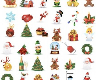 Vector Design Elements 07 Christmas Vector Graphics