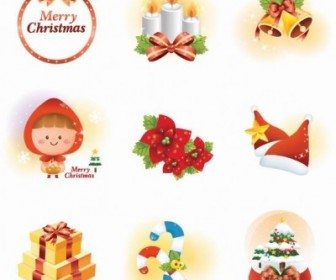 Vector Christmas Set Icon Vector Graphics