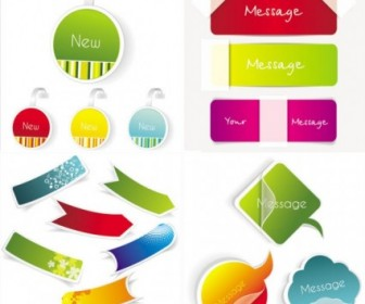 Vector Fine And Sticky Labels Vector Art