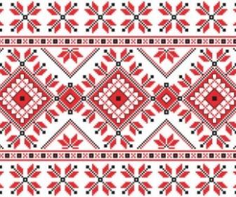 Vector Consecutive Knitting Patterns Background Vector Art