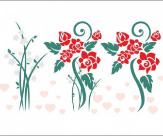 Vector Love Flowers Flower Vector Art
