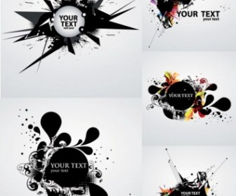 Vector The Trend Of Dynamic Ink Background Vector Art