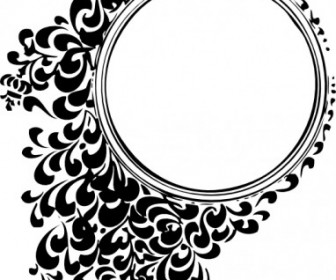Vector Filigree Circle Vector Clip Art