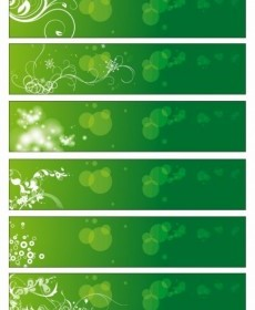 Vector Green Floral Banners Vector Banner