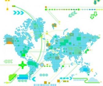Vector Trend Map Vector Art