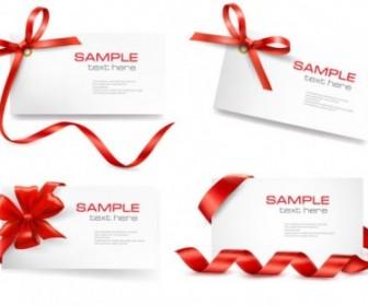 Vector Red Ribbon Card 01 Vector Art