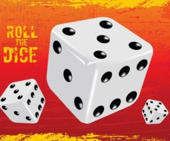 Vector Gambling Dice Vector Art