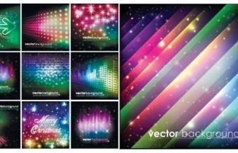 Vector Colorful Christmas Background Vector Art